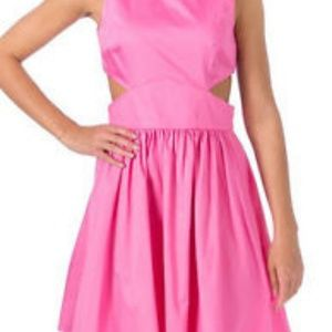 French Connection Pink Cut-out Dress NWT